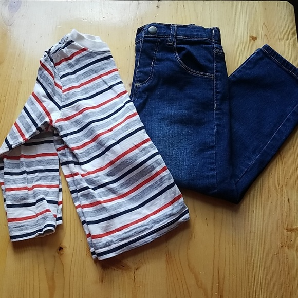 Little Me Other - Boys jeans and long sleeve
